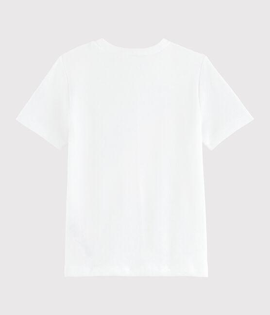 Kinder-T-Shirt mit Siebdruck für Mädchen weiss Ecume