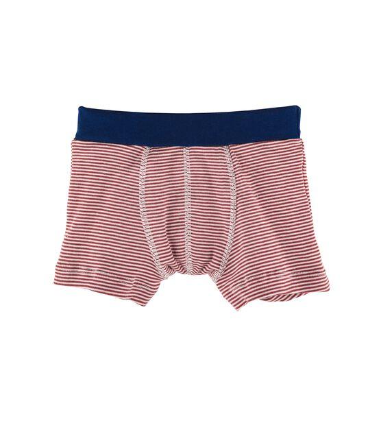 Boxershorts für kleine Jungen rot Carmin / weiss Marshmallow