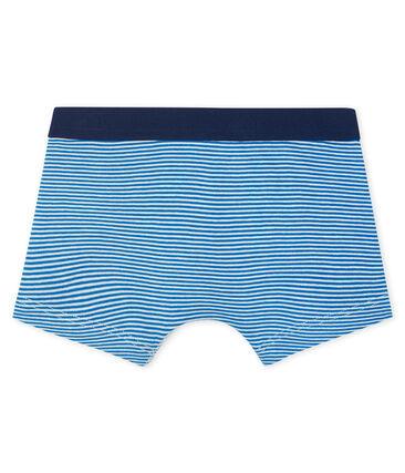 Boxershorts für kleine Jungen weiss Marshmallow / blau Riyadh