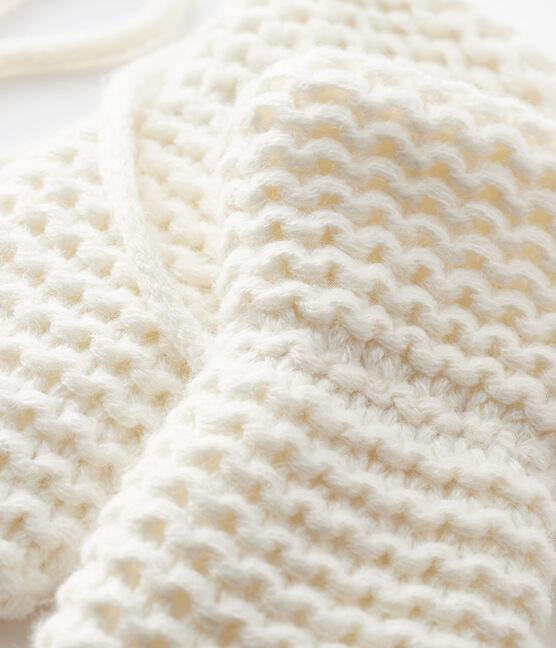 Baby-Fäustlinge mit Microfleecefutter weiss Marshmallow
