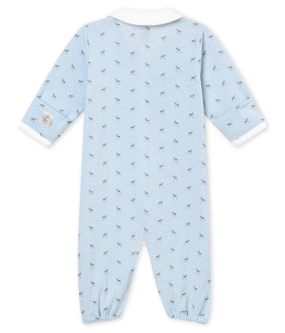 Baby Jungen Overall aus gedoppeltem Jersey mit Print blau Fraicheur / weiss Multico