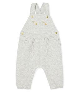 Lange Baby-Latzhose für Mädchen aus gestepptem Doppeljersey