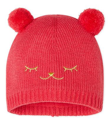 Baby-Mütze für Mädchen mit Fleecefutter rot Signal