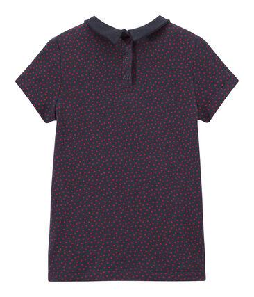 Mädchen-T-Shirt mit Bubikragen