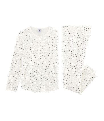 Rippstrick-Pyjama für kleine Mädchen.