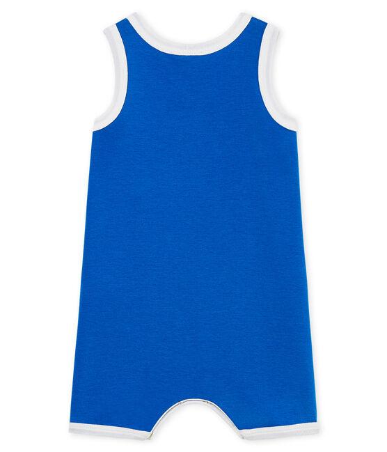 Baby-Kurzoveralls aus Rippstrick für Jungen blau Riyadh