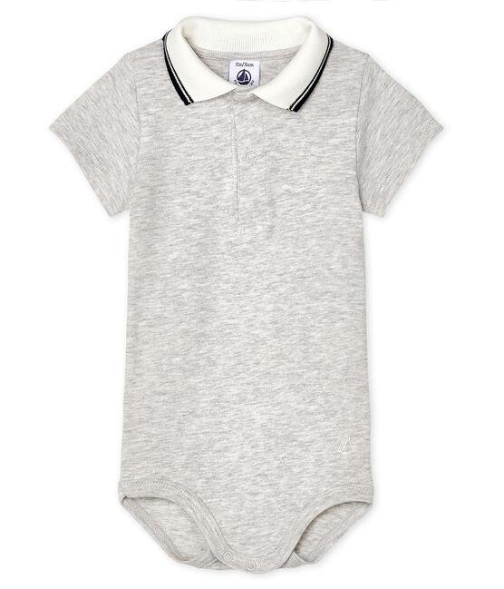 Baby-Body mit Polohemdkragen für Jungen grau Beluga