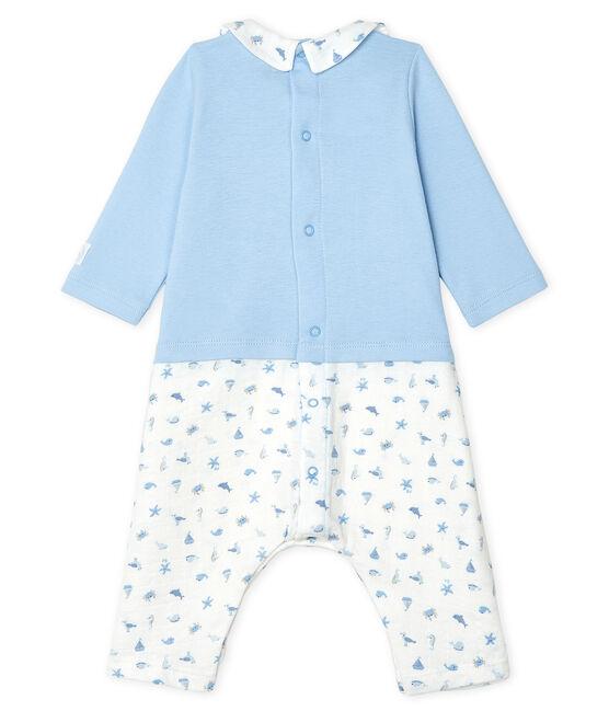 Lange Baby-Kombination für Jungen blau Jasmin / weiss Multico