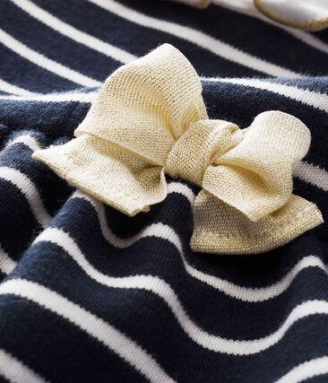 Baby MädchenKleid mit Marinestreifen