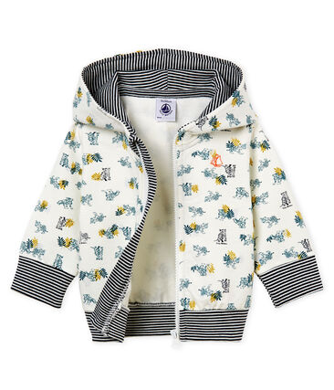 Gemustertes baby-kapuzenSweatshirt mit reissverschluss jungen