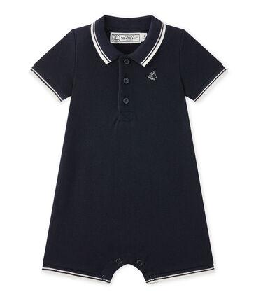 Kurzer Baby-Jungen-Overall aus Jersey-Pikee