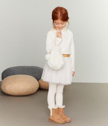 Rock aus Tüll für Mädchen weiss Marshmallow / gelb Or