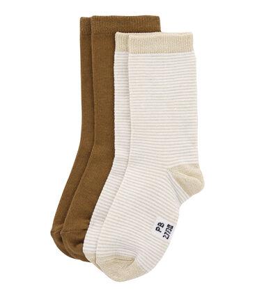 Bunte Socken mit Streifenmuster im 2er-Set lot .