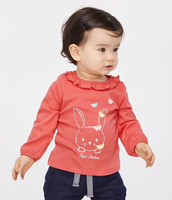 Langärmelige Baby-Bluse für Mädchen rosa Groseiller