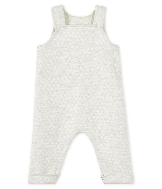 Gesteppte Baby-Mädchen-Latzhose aus gedoppeltem Jersey grau Montelimar Chine