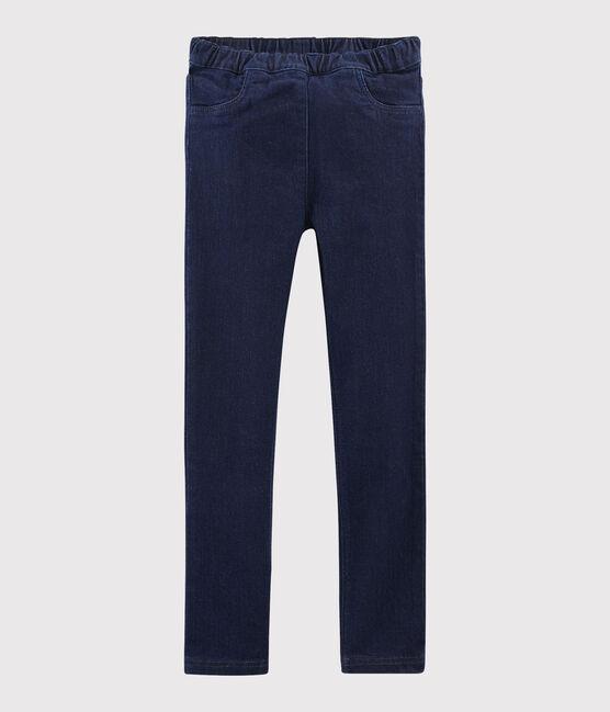 Kinder-Jeanshose für Mädchen blau Denim Bleu Fonce