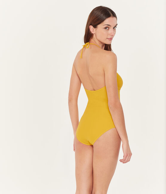 Badeanzug 1-teilig damen gelb Bamboo
