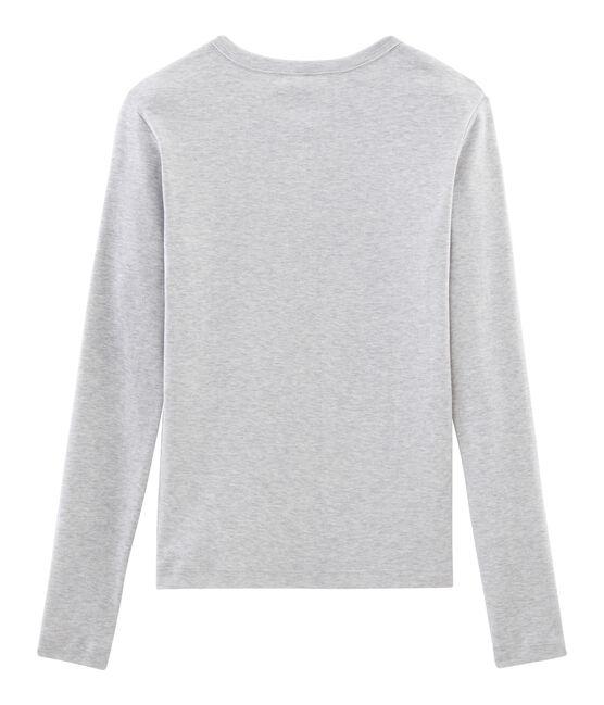 Emblematisches langärmliges T-Shirt für Damen grau Beluga