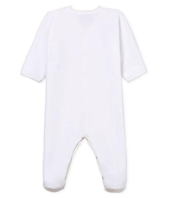 Baby-Strampler aus Samt, Unisex weiss Ecume