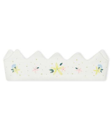 Baby-Haarband aus Rippstrick für Mädchen weiss Marshmallow