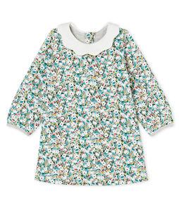 Langärmeliges gemustertes Babykleid für Mädchen