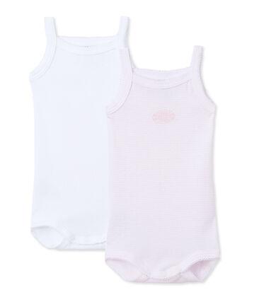 Baby-Mädchen-Bodys mit Trägern im 2er-Set
