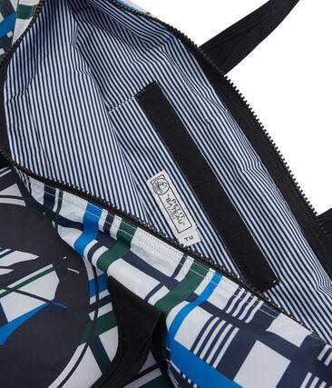 Tasche mit Karomuster für Damen weiss Marshmallow / weiss Multico