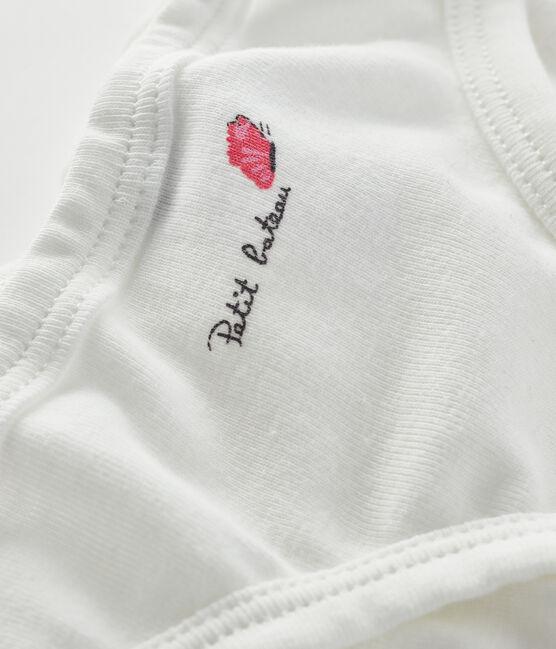 Unterhose für kleine Mädchen weiss Marshmallow