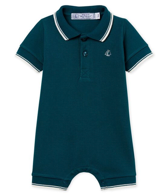 Baby-polo-kurzoverall jungen grün Pinede