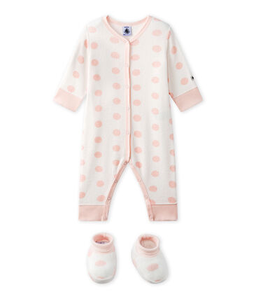 Baby-Strampler ohne Fuß aus Bouclé-Frottier