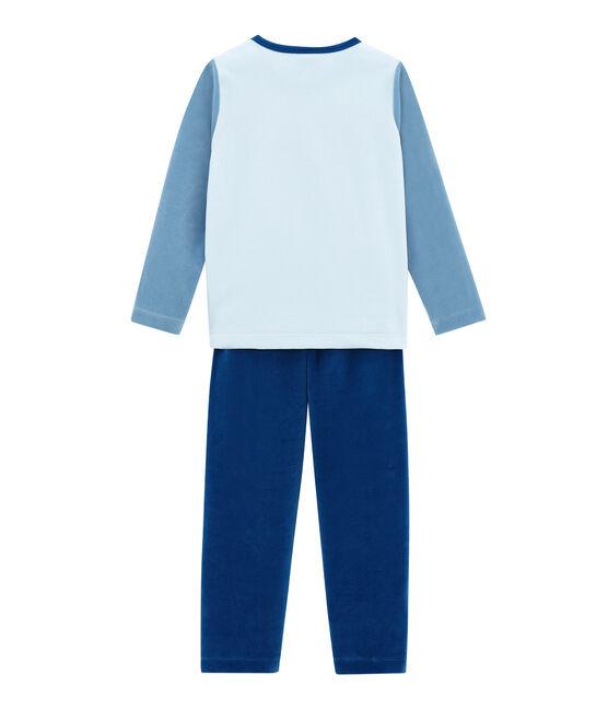 Jungen Schlafanzug blau Limoges / weiss Multico