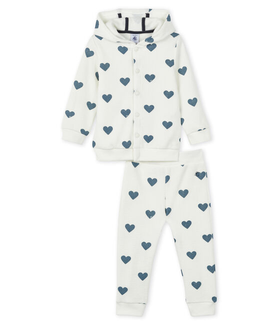 Baby Sweat Shirt und Jogging Set weiss Marshmallow / blau Astro