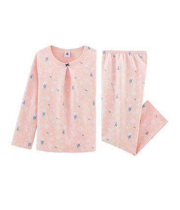 Molton-Pyjama für kleine Mädchen