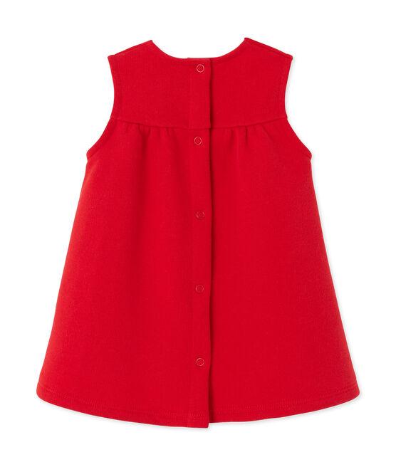 Besticktes Baby-Mädchen-Kleid aus Molton rot Froufrou