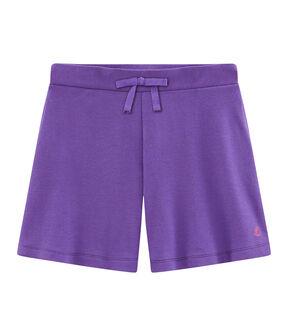 Kinder-Strick-Bermuda für Mädchen violett Real