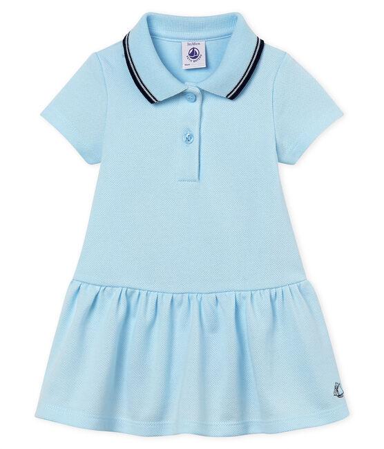 Kurzärmeliges baby-kleid mädchen blau Bocal