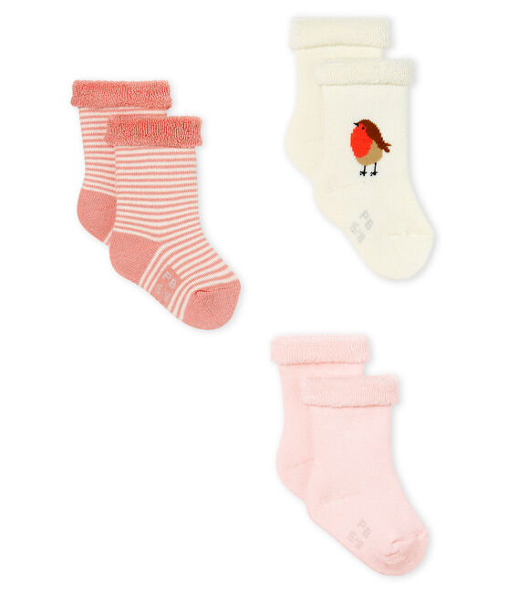 Set mit drei Paar kuschelig weichen, bequemen Frottee-Socken. lot .