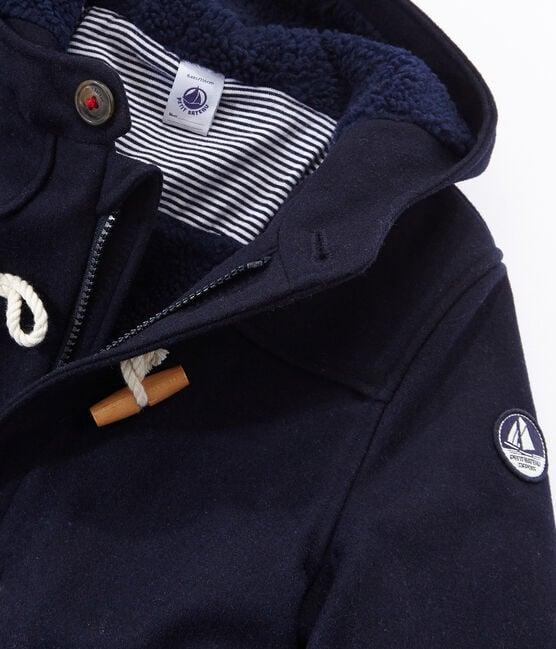 Kinder-Dufflecoat Jungen blau Smoking