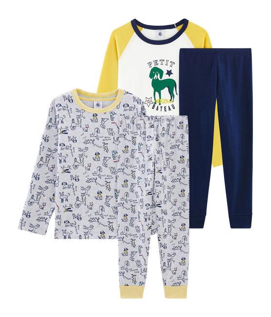 2er-Set Rippstrick-Pyjamas für Jungen lot .