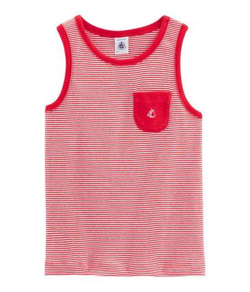 Kinder-Tanktop für Jungen rot Peps / weiss Marshmallow