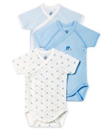 Trio kurzärmelige Neugeborenen-Bodys