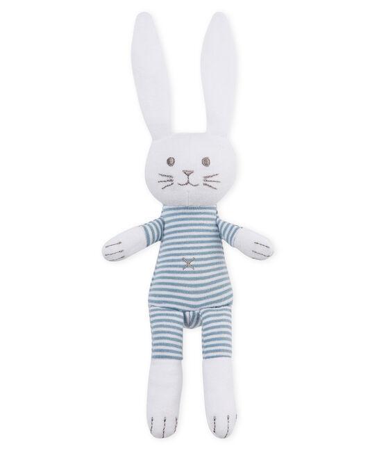 Baby-kuschelhäschen rassel unisex blau Fontaine / weiss Marshmallow