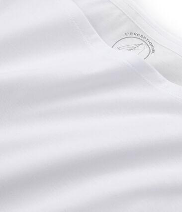 Kurzärmliges T-Shirt aus Sea Island-Baumwolle für Damen weiss Ecume