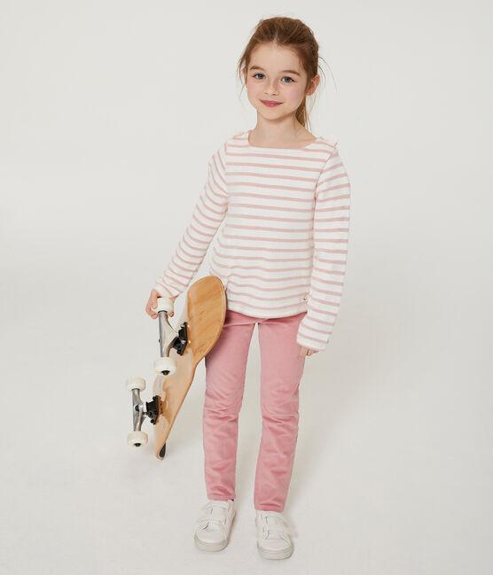 In Samt und schmaler Passform für Mädchen rosa Charme