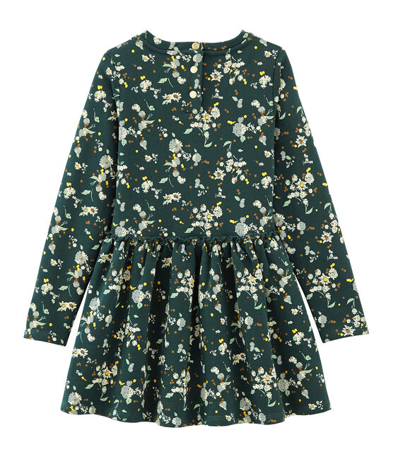 Kleid aus Molton grün Sherwood / weiss Multico