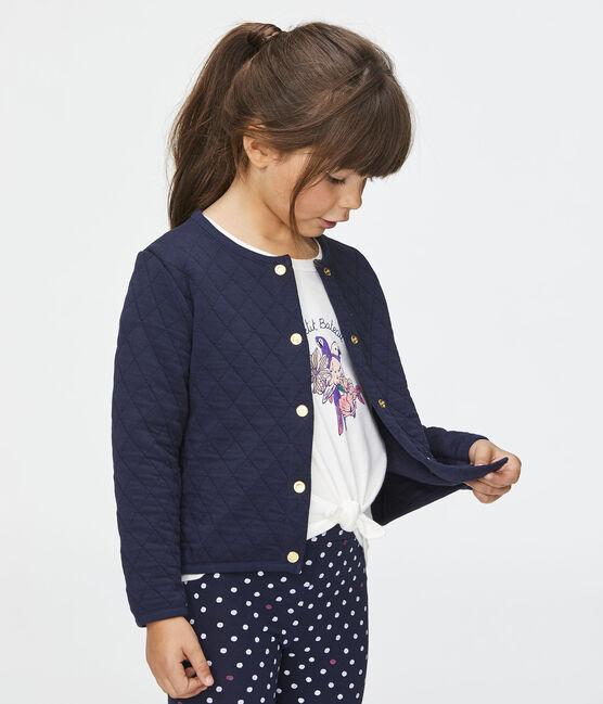 Kinder-Cardigan für Mädchen blau Smoking