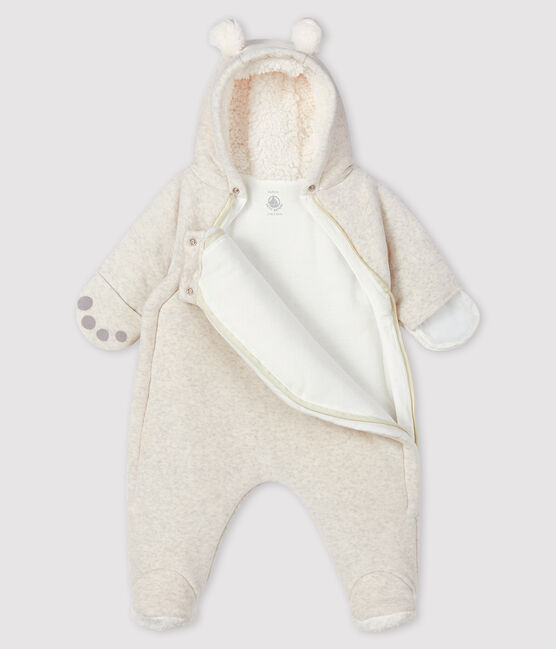 Baby-Overall aus Velours grau Montelimar Chine