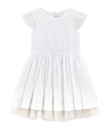 Kinder-Kleid Mädchen weiss Ecume