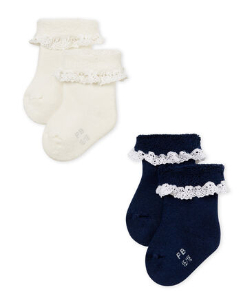 2er-Set baby-strümpfe mädchen lot .