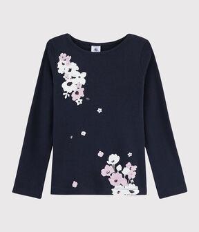 Kinder-T-Shirt mit Siebdruck für Mädchen SMOKING